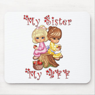 My Sister My BFF Mouse Mat