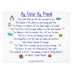 MY SISTER My Friend poem with graphics Announcement