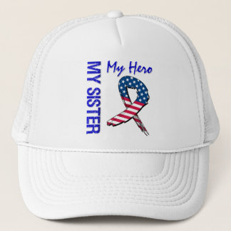 My Sister My Hero Patriotic Grunge Ribbon Trucker Hat