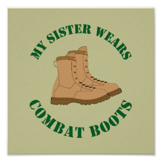 My Sister Wears Combat Boots - Poster