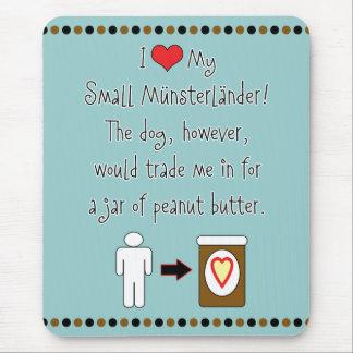 My Small Münsterländer Loves Peanut Butter Mouse Pad