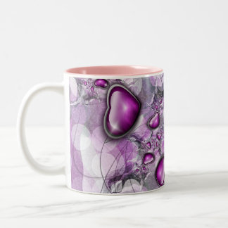 my small pink heart Two-Tone coffee mug