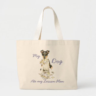 My Smooth Collie Ate My Lesson Plan Jumbo Tote Bag