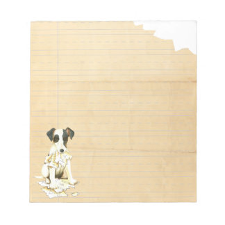 My Smooth Fox Terrier Ate My Homework Notepad