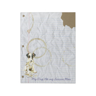 My Smooth Fox Terrier Ate My Lesson Plan Notepad