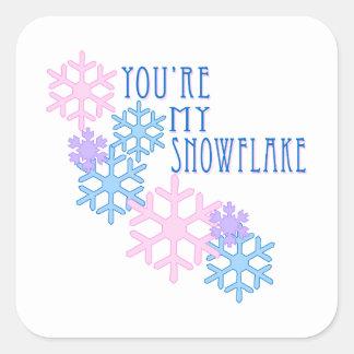 My Snowflake Square Stickers