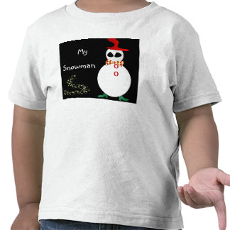 My Snowman >Christmas Toddlers T Shirt
