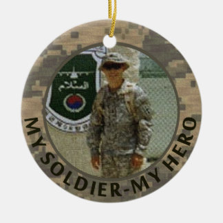 My Soldier My Hero Military Photo Custom Date Christmas Ornament