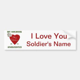 My Soldier, My Valentine Car Bumper Sticker
