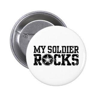 My Soldier Rocks 6 Cm Round Badge