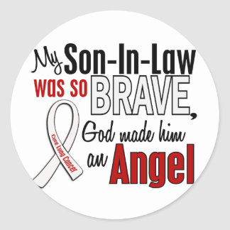 My Son-In-Law Is An Angel Lung Cancer Round Sticker