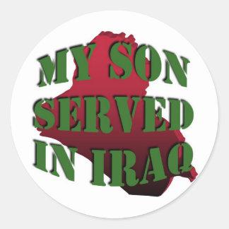 My Son Iraq Stickers (Lg)