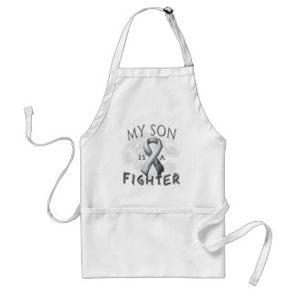 My Son Is A Fighter Grey Standard Apron