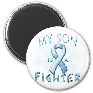 My Son is a Fighter Light Blue Magnet