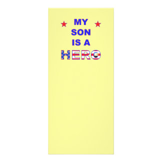 My Son Is A Hero Custom Rack Card