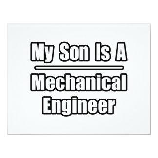 My Son Is A Mechanical Engineer Custom Invite