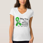 My Son is a Strong Survivor Green Ribbon Shirts