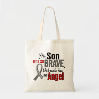 My Son Is An Angel 1 Brain Cancer Tote Bag