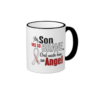 My Son Is An Angel Lung Cancer Coffee Mugs