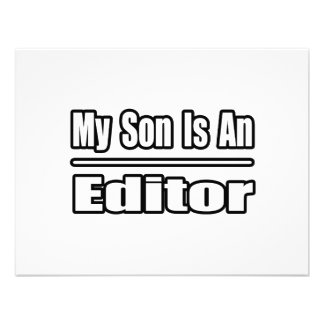 My Son Is An Editor Announcements