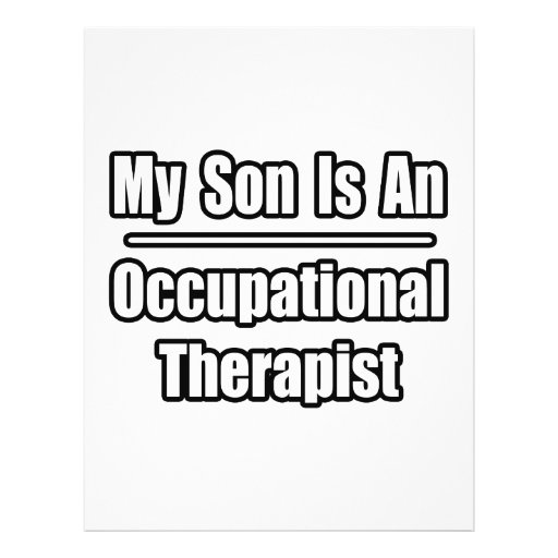My Son Is An Occupational Therapist Flyer