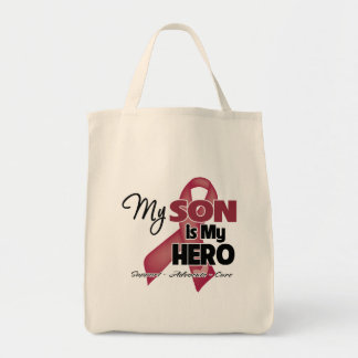 My Son is My Hero - Multiple Myeloma Grocery Tote Bag