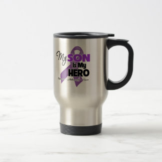 My Son is My Hero - Purple Ribbon Stainless Steel Travel Mug