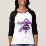 My Son is My Hero - Purple Ribbon Tee Shirts