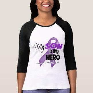 My Son is My Hero - Purple Ribbon Tshirt