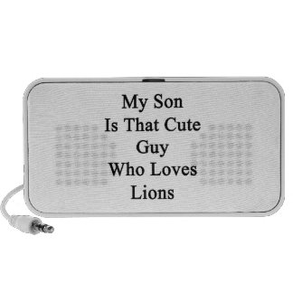 My Son Is That Cute Guy Who Loves Lions Travel Speakers
