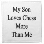 My Son Loves Chess More Than Me Cloth Napkin