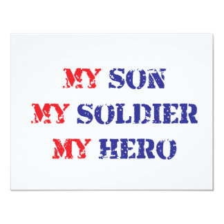 My son, my soldier, my hero card