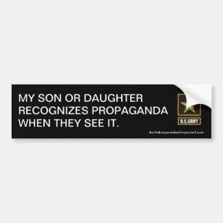 My son or daughter recognise propaganda bumper stickers