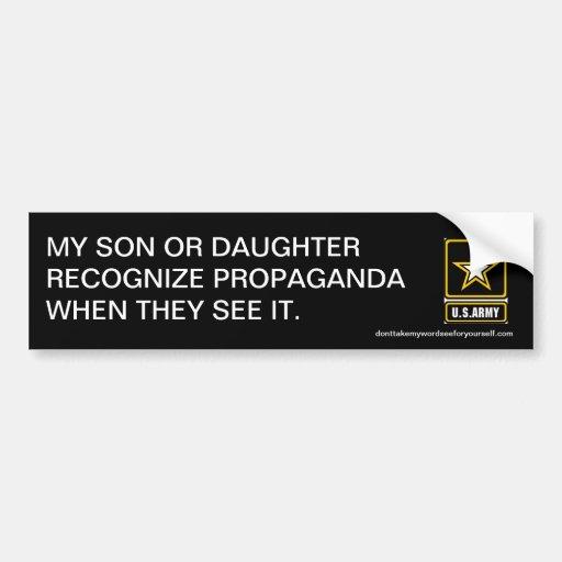 My son or daughter recognize propaganda bumper stickers