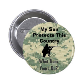 My Son Protects This Country Funny Military 6 Cm Round Badge
