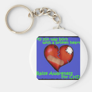 My Son Was Born With A Broken Heart Key Chain