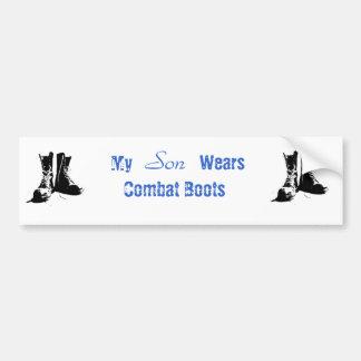 My Son Wears Combat Boots Bumper Sticker Car Bumper Sticker