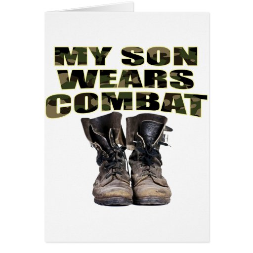 My Son Wears Combat Boots Cards