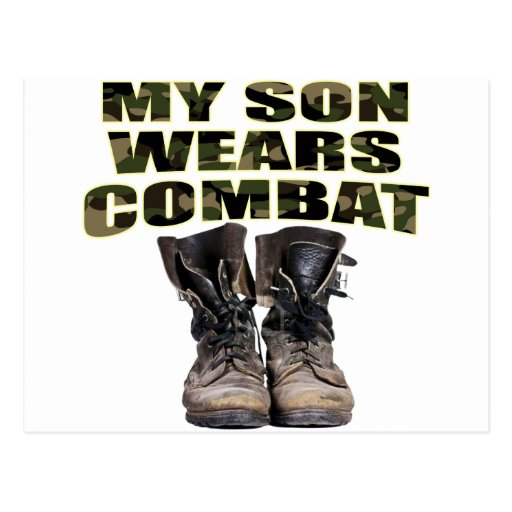 My Son Wears Combat Boots Post Card