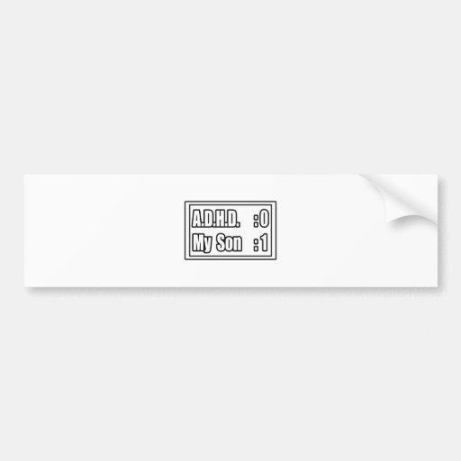 My Son's Beating A.D.H.D. (Scoreboard) Bumper Sticker