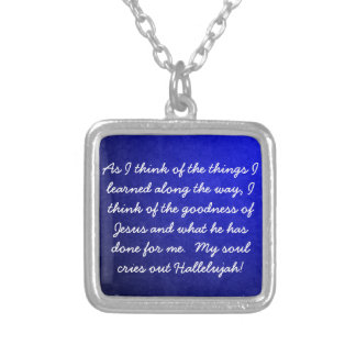 My soul cries out Hallelujah Necklace