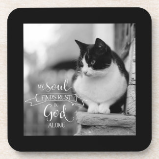 My Soul Finds Rest - Ps 62:1 Beverage Coasters