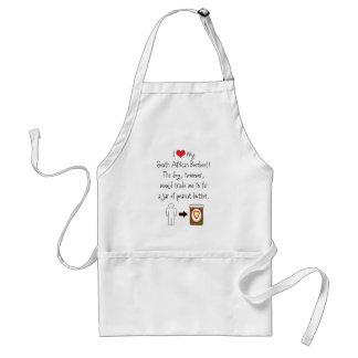 My South African Boerboel Loves Peanut Butter Adult Apron