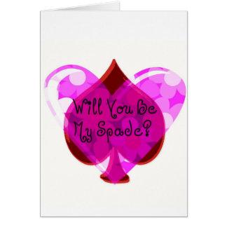 My Spade Valentine Greeting Card