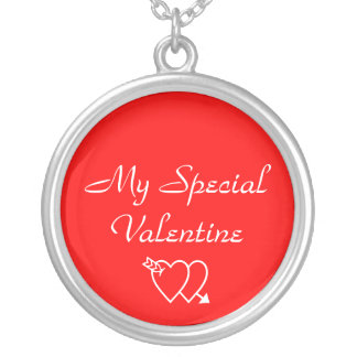 My Special Valentine Round Pendant Necklace
