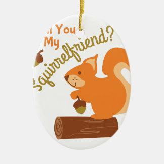 My Squirrel Friend Ceramic Oval Decoration