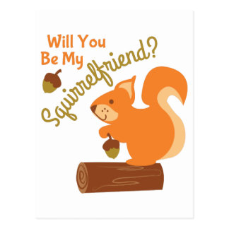 My Squirrel Friend Postcard