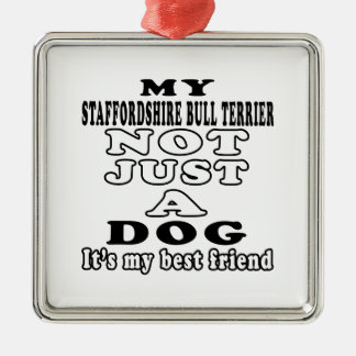 My Staffordshire Bull Terrier Not Just A Dog Christmas Tree Ornament