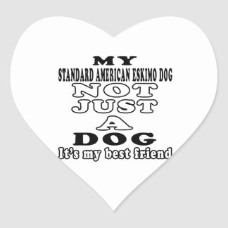 My Standard American Eskimo dog Not Just A Dog Stickers