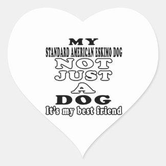 My Standard American Eskimo dog Not Just A Dog Heart Sticker